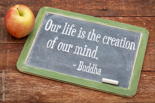 Photo  Buddha quote on life