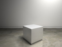 White Plinth To Place Product