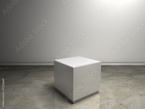 white plinth to place product Wallpaper Mural