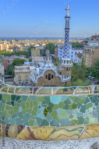 Park Guell in Barcelona, Spain Canvas Print