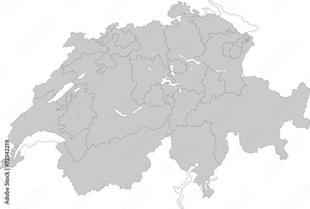 Fototapeta スイスの地図