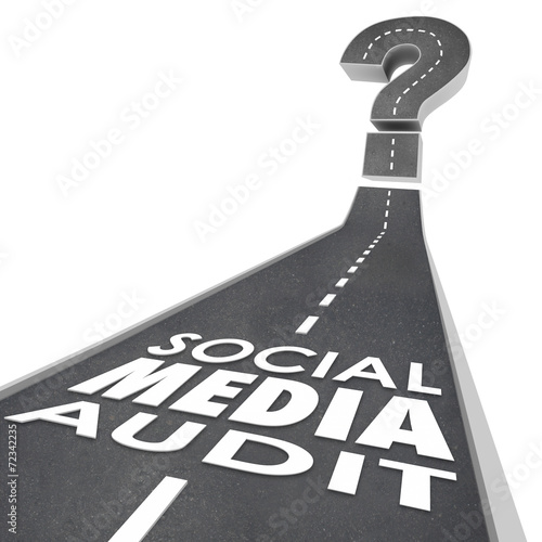Photo Social Media Audit Words Road Monitor Measure Campaign Effective