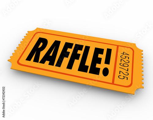 Fotografía  Raffle Ticket Word Enter Contest Winner Prize Drawing