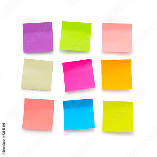 Fotografie, Obraz  Blank sticky notes