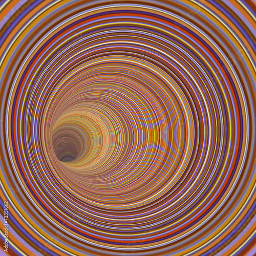 3d render tunnel vortex in multiple striped color