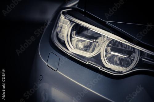 Fototapeta Car LED headlight obraz na płótnie