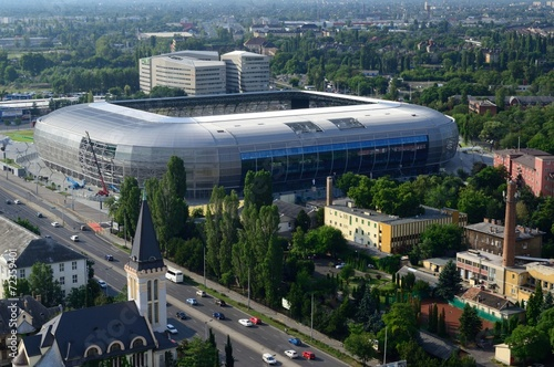 Aluminium Prints Stadion Groupama Arena Budapest Stadium
