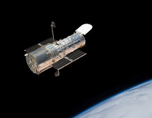 Hubble Space Telescope In Orbi...