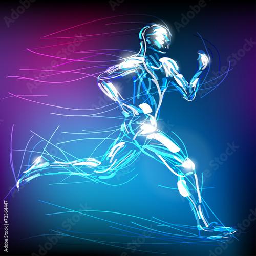 Fototapeta świetlisty biegacz wektor obraz