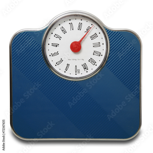 Fotografie, Obraz  Pesapersone blu v Fondo bianco 90 kg