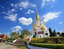 Thai Temple At Wat Tham Kuha S...