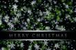 Leinwanddruck Bild - fantastic christmas design with snowflakes