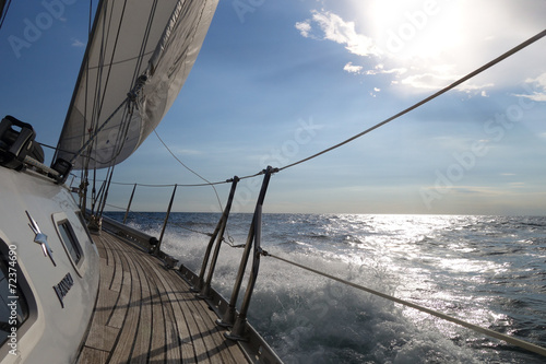 Poster Zeilen segeln