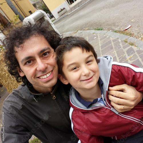 Fotografie, Obraz  Padre e figlio