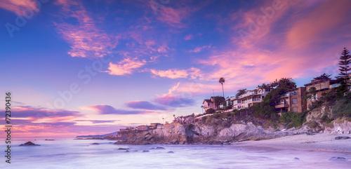 Laguna Beach in Calfornia at sunset
