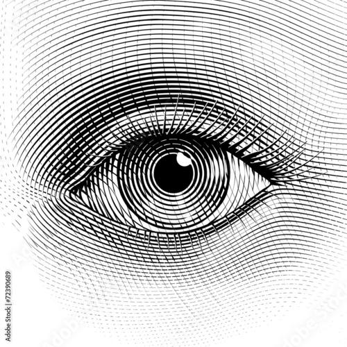 Vector eye Canvas-taulu