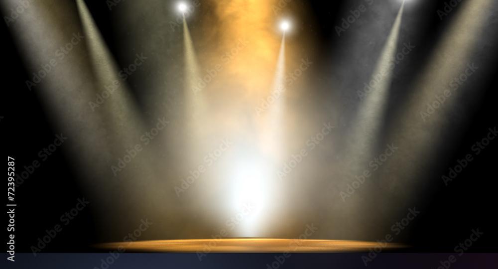 Fototapety, obrazy: Spotlit Stage