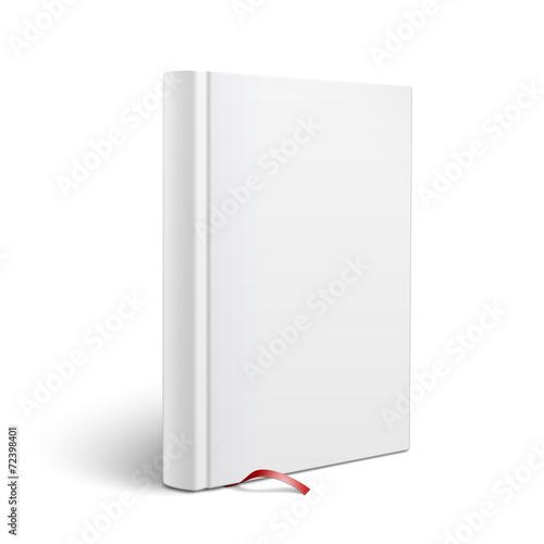 Blank Vertical Book With Bookmark Template Acheter Ce Vecteur