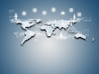 Internet technology concept of global business or social network