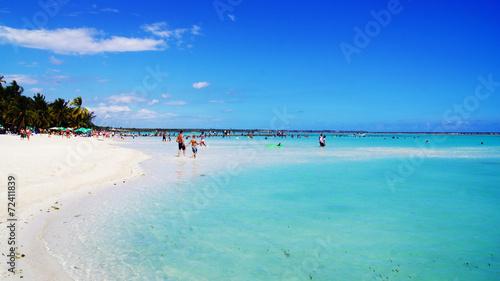 Foto op Plexiglas Caraïben Playa de Boca Chica. Caribe. Santo Domingo. República Dominicana