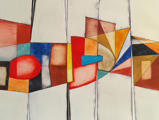 Panel Szklany an abstract watercolor painting