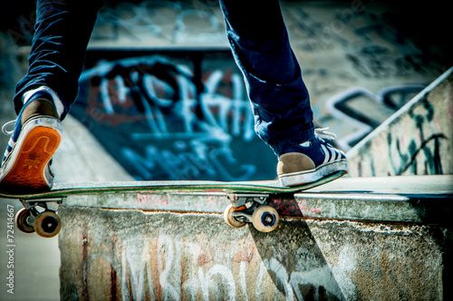 Skateboard Tablou Canvas