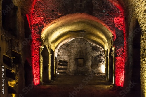 Spoed Foto op Canvas Napels Catacombs of San Gennaro in Naples