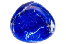 Precious Gem On White Background, Lapis Lazuli
