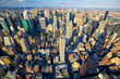 Aerial view of Midtown Manhattan skyscrapers, New York City