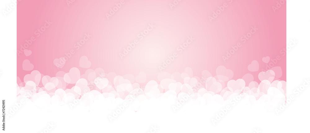 Fototapety, obrazy: Banner rosa e cuori