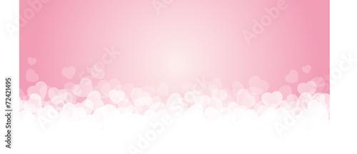 Fotografie, Obraz Banner rosa e cuori