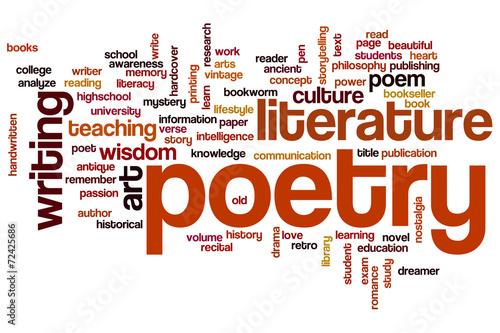 Poetry word cloud Fototapeta