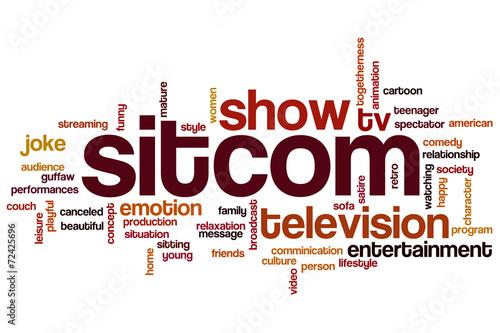 Sitcom word cloud Canvas Print