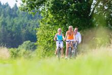 Family Having Weekend Bicycle ...