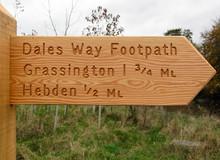 Dales Way Signpost - Yorkshire Dales National Park UK