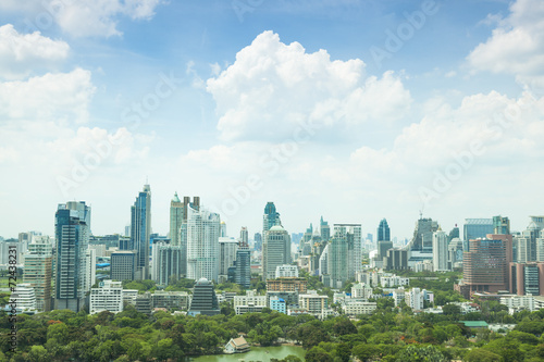 Photo Stands United States Bangkok city in day.