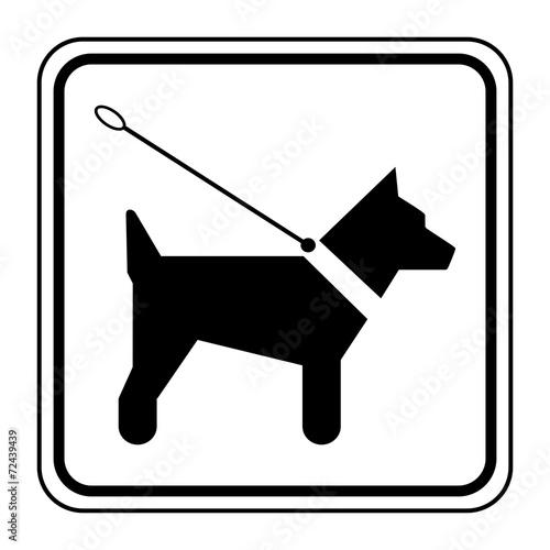 Láminas  Logo chien en laisse.