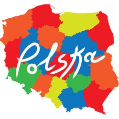 Fototapeta Mapy polonia