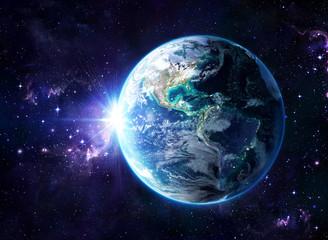 Fototapeta planeta ziemia z kosmosu