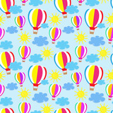 Seamless background with colored balloons