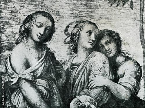 Photo Thalia, Clio and Euterpe (Raphael, 1511)