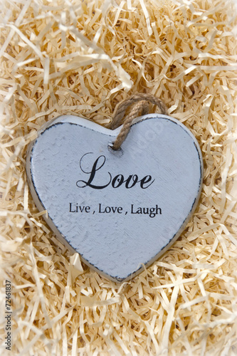 Photo  Live, love and laugh heart