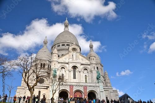 Photo  Sacre Ceure de Montmartre cathedral in Paris