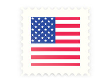 Postage Stamp Icon Of United States Of America