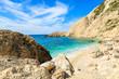 Paradise beach and azure sea in Petani bay, Kefalonia island