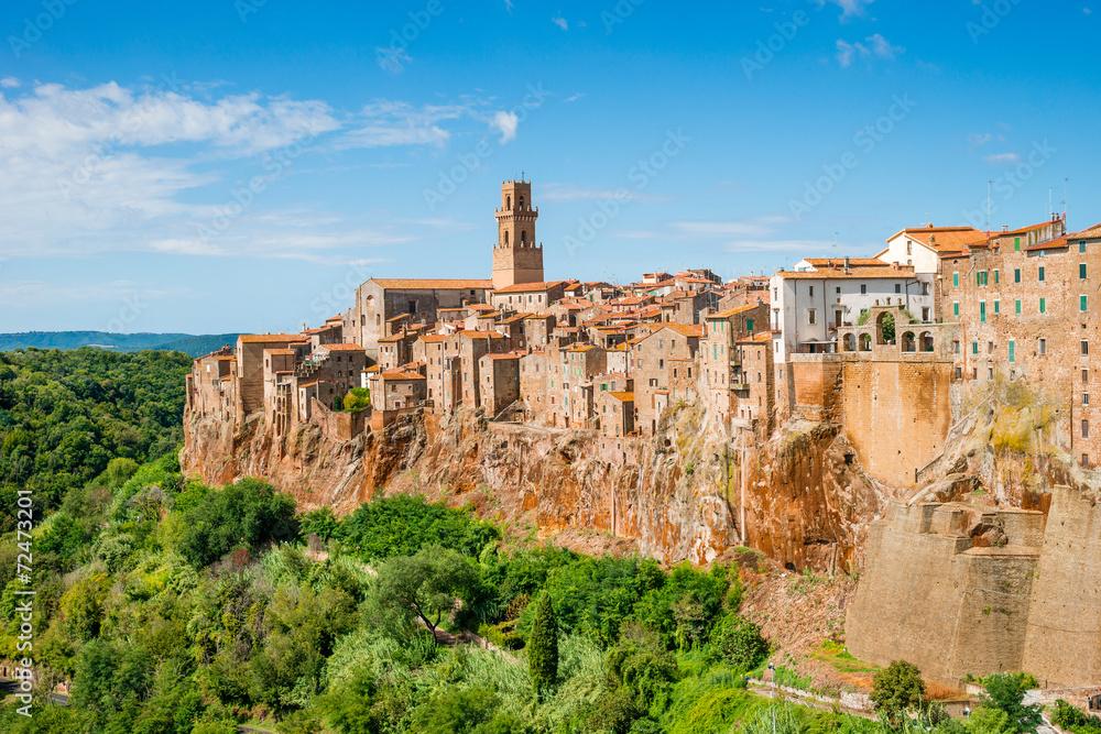 Fototapety, obrazy: Stare miasto Pitigliano, Toskania, Włochy