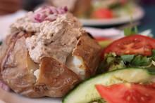 Jacket Potato With Tuna And Side Salad