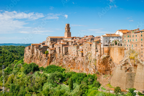 Obraz Stare miasto Pitigliano, Toskania, Włochy - fototapety do salonu