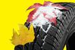 canvas print picture - Winterreifen Reifenwechsel