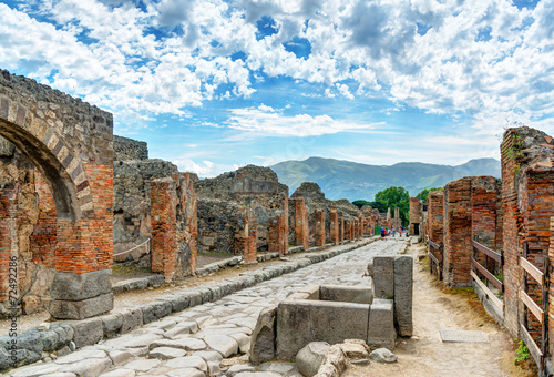 Canvas Prints Ruins Street in Pompeii, Italy